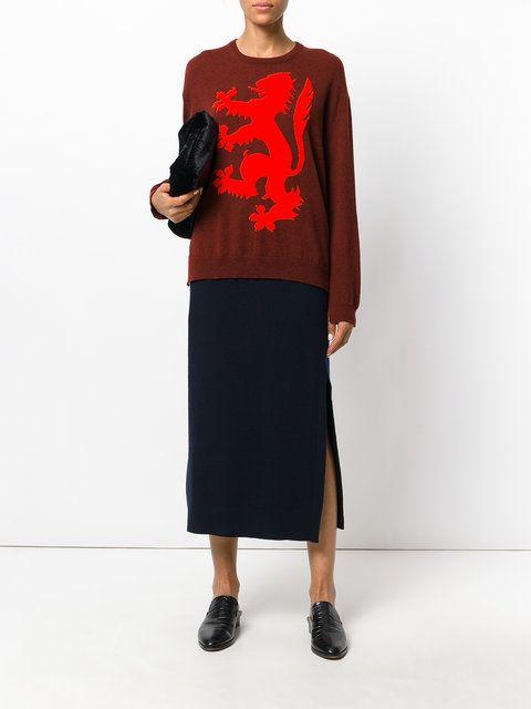 с чем сочетать коричневый свитер