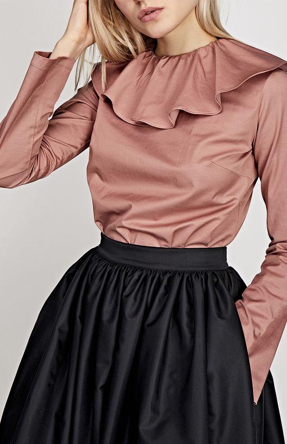 розовая шелковая блузка