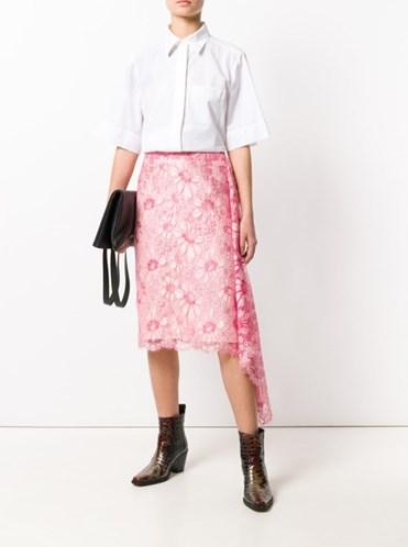образ розовая юбка