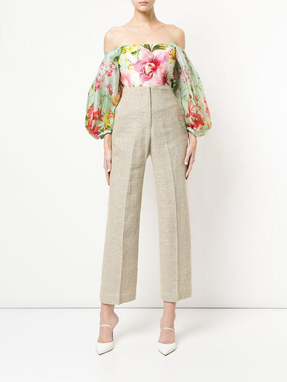 брюки с высокой талией