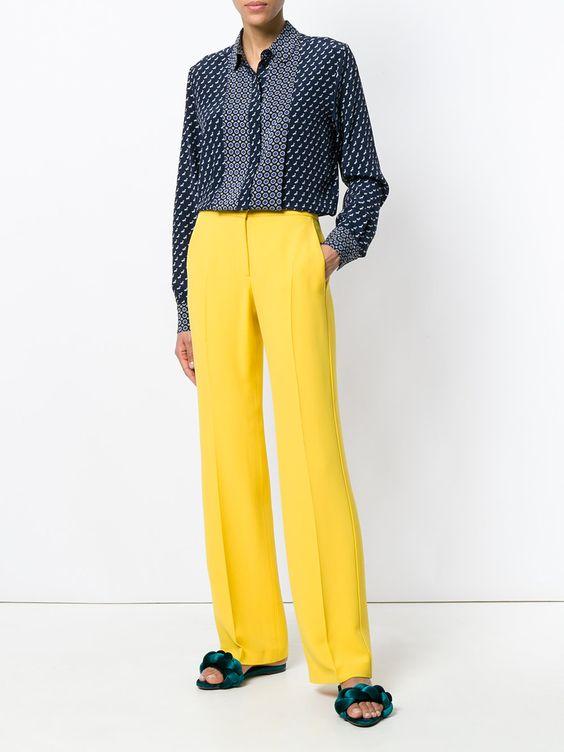 стильный образ с классическими брюками